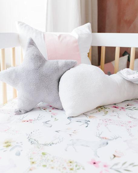 Oilo Studio Fawn Jersey Standard Crib Sheet, 2 Pack