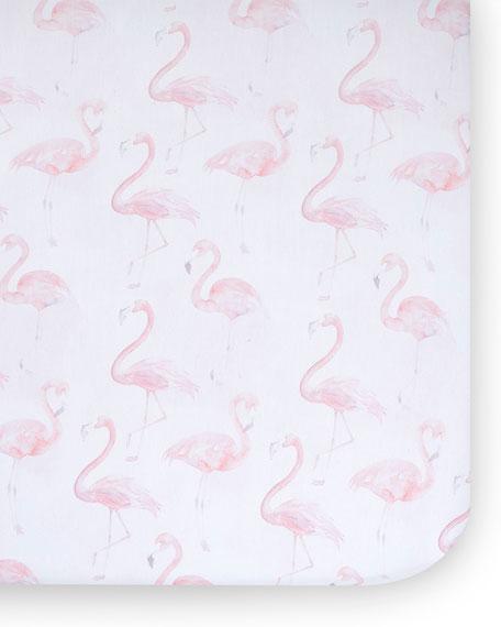 Oilo Studio Flamingo Jersey Standard Crib Sheet, 2 Pack