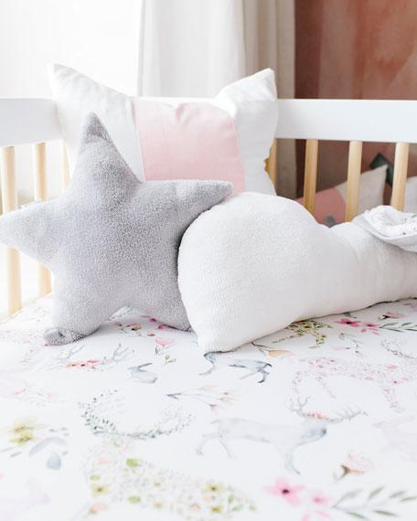 Oilo Studio Fawn Jersey Standard Crib Sheet