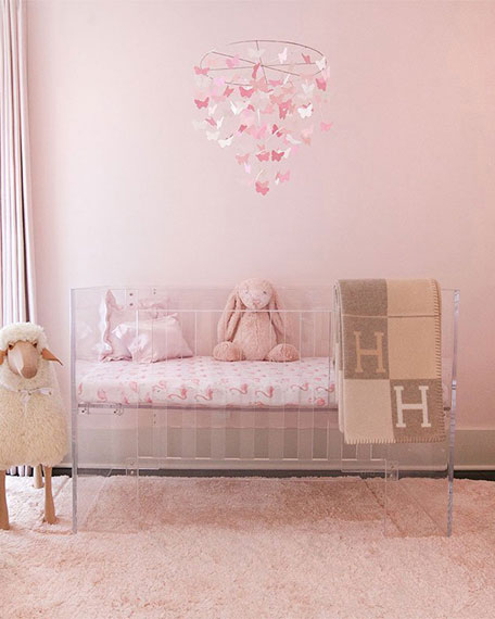 Oilo Studio Flamingo Jersey Standard Crib Sheet