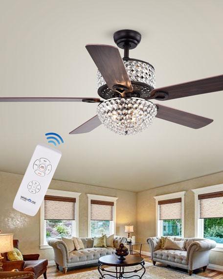 Home Accessories Prismatic Chandelier Ceiling Fan