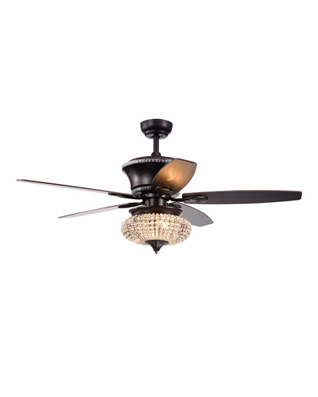 Home Accessories Crystal Shade Chandelier Ceiling Fan