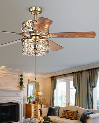 Thisvro Chandelier Ceiling Fan