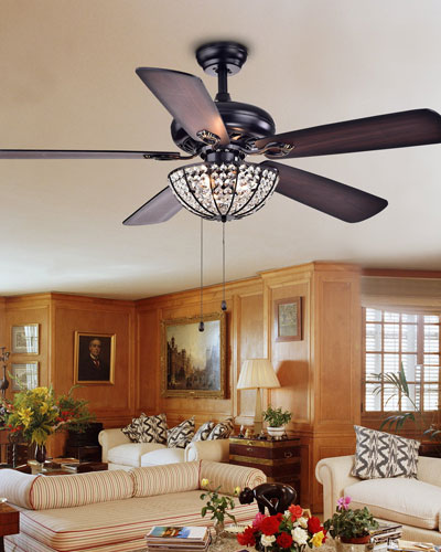 Hannele Crystal Bowl Chandelier Ceiling Fan