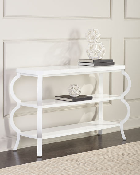 Kellie Lacquered 3-Tier Side Table