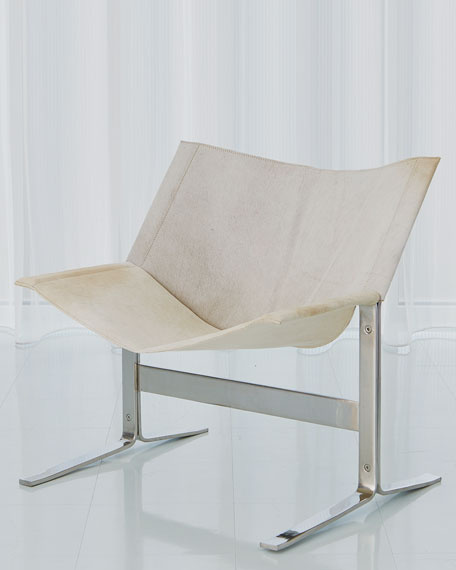 Global Views Cantilever Hair on Hide Chair