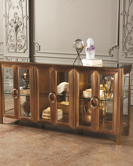 Global Views Apothecary Class Console Cabinet