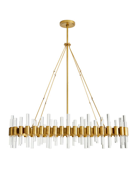 Image 1 of 2: Arteriors Haskell Oval Chandelier