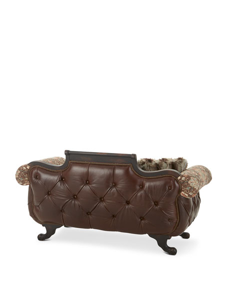 Image 4 of 4: Old Hickory Tannery Andreas Leather Tufted Settee