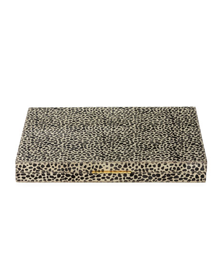 Pigeon and Poodle Bailey Large Cheetah-Print Backgammon Game Set