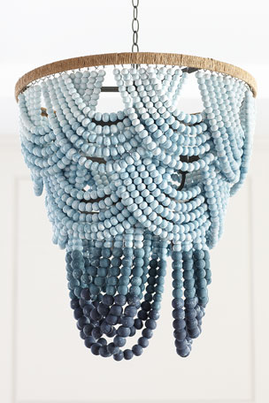 Coastal Living by Regina Andrew Ombre Wood Bead Chandelier