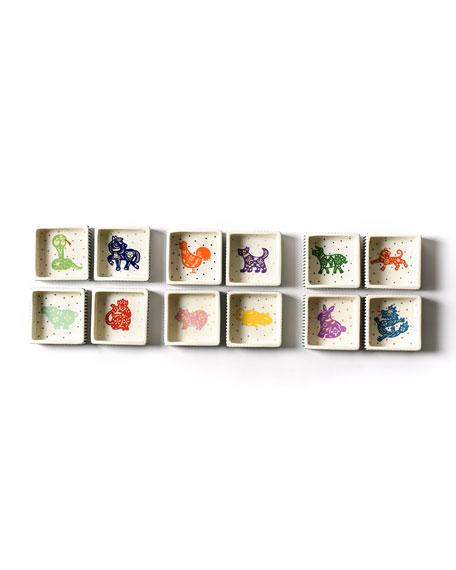 Coton Colors Chinese Zodiac Dog Small Square Trinket Bowl