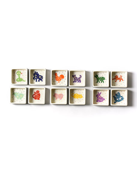 Coton Colors Chinese Zodiac Dragon Small Square Trinket Bowl