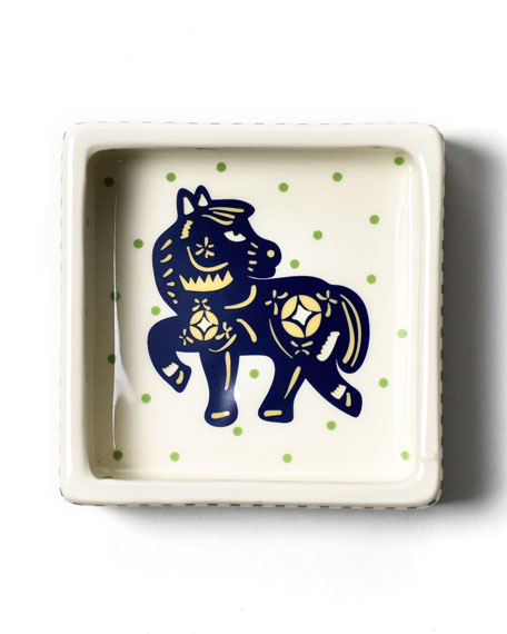 Coton Colors Chinese Zodiac Horse Small Square Trinket Bowl
