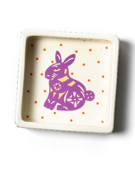 Image 1 of 3: Coton Colors Chinese Zodiac Rabbit Small Square Trinket Bowl