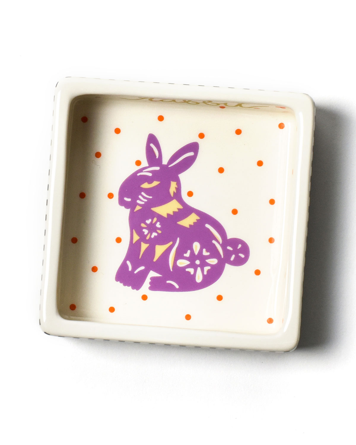 Coton Colors Chinese Zodiac Rabbit Small Square Trinket Bowl