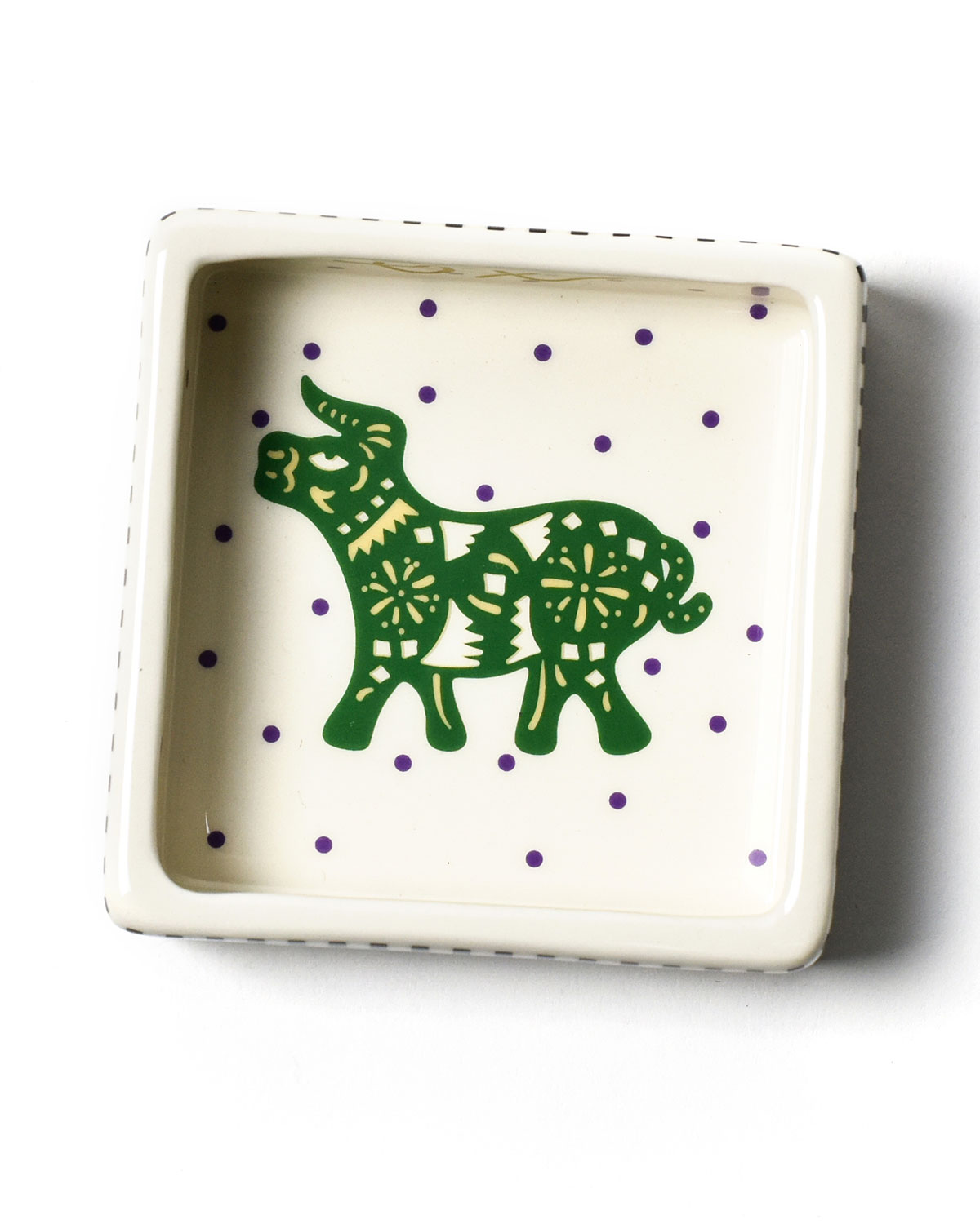 Coton Colors Chinese Zodiac Ox Small Square Trinket Bowl