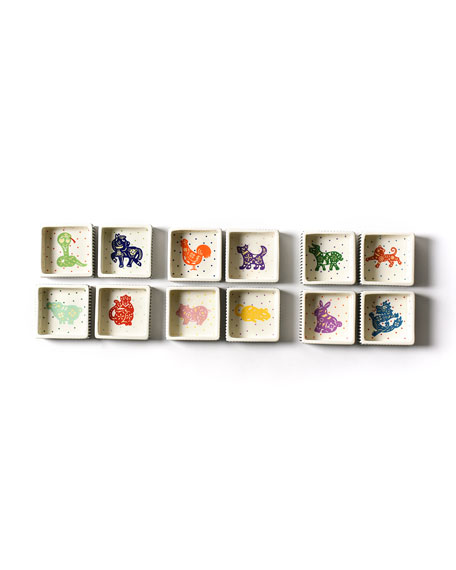 Coton Colors Chinese Zodiac Rooster Small Square Trinket Bowl