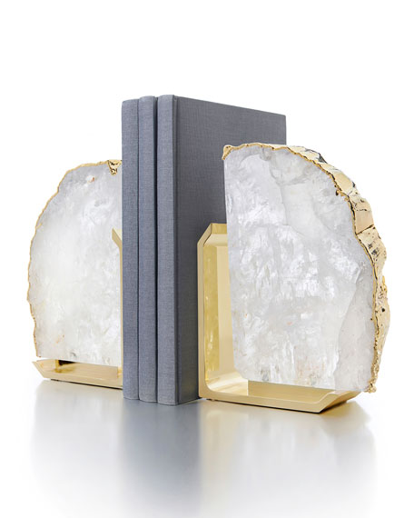 ANNA New York Fim Crystal Stone Bookends, Set of 2