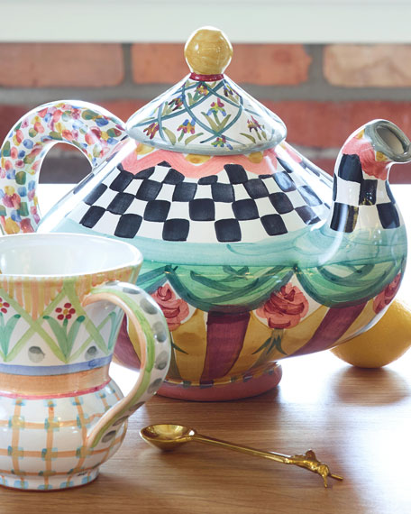 MacKenzie-Childs Odd Fellows Teapot
