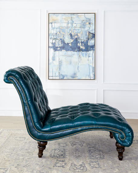 Massoud Charlotte Tufted Leather Chair