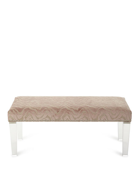 Massoud Pantone Bench with Acrylic Legs
