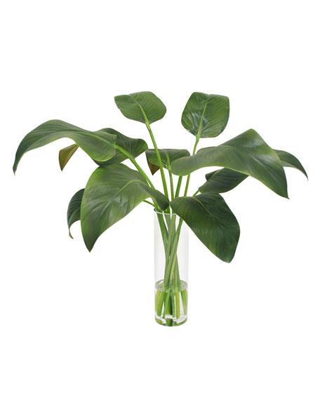 Winward Calla Leaf in Slim Round Vase