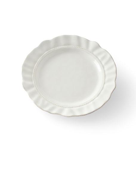 Juliska Madeleine Whitewash Dessert/Salad Plate