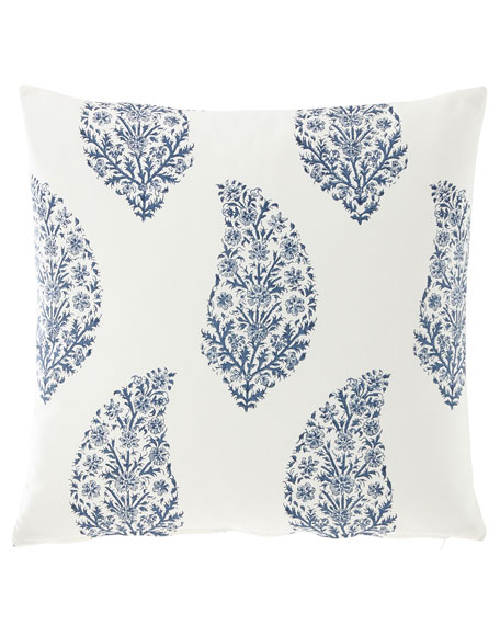 "French Laundry Home Large Paisley Print Pillow, 20""Sq."