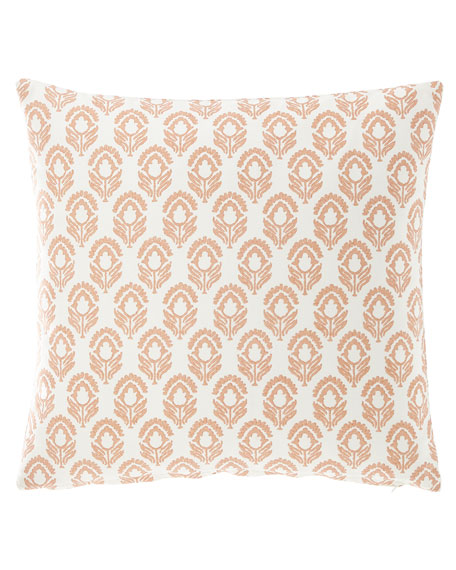"""French Laundry Home Floral Pillow, 20""""Sq."""