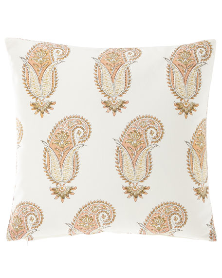 "French Laundry Home Medium Paisley Pillow, 20""Sq."