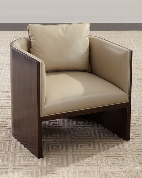 John-Richard Collection Lynbrook Leather Tub Chair