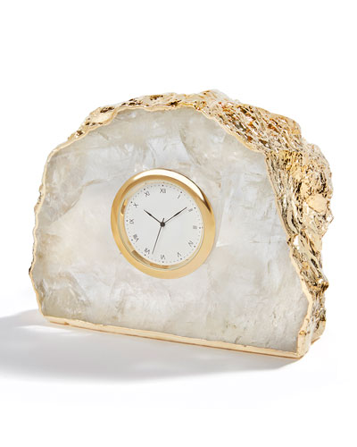Ampliar 24K Gold Crystal Clock