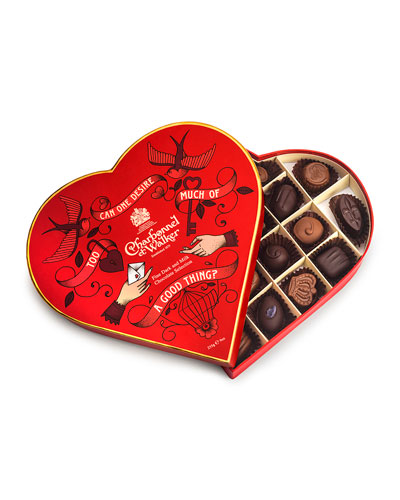 Fine Milk and Dark Chocolate Selection Red Heart Box