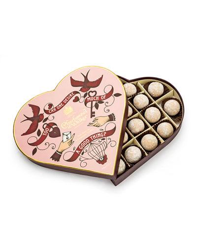 Pink Marc de Champagne Heart Box