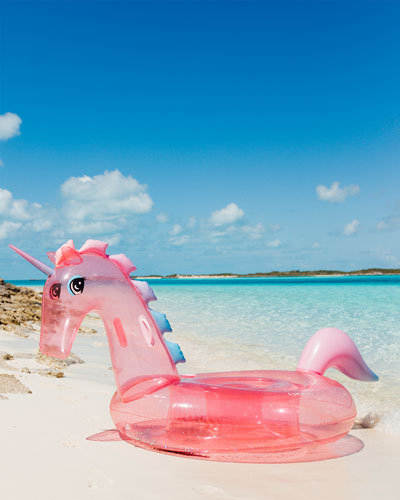 Glitter Unicorn Pool Float