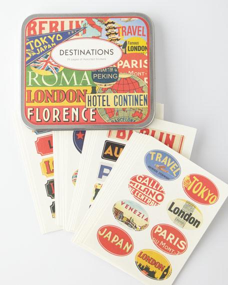 Cavallini & Co. Destination Travel Stickers