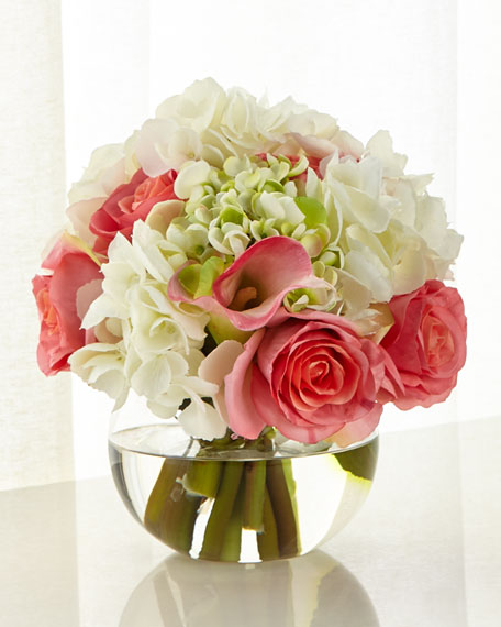 John-Richard Collection Endearing Roses & Hydrangeas Arrangement