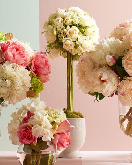 John-Richard Collection Cornsilk Rose Topiary