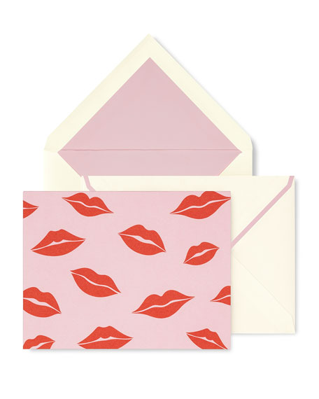 kate spade new york kisses fold-over card set