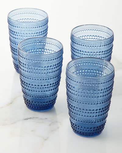 Lumina Blue Highball Glasses, Set of 4