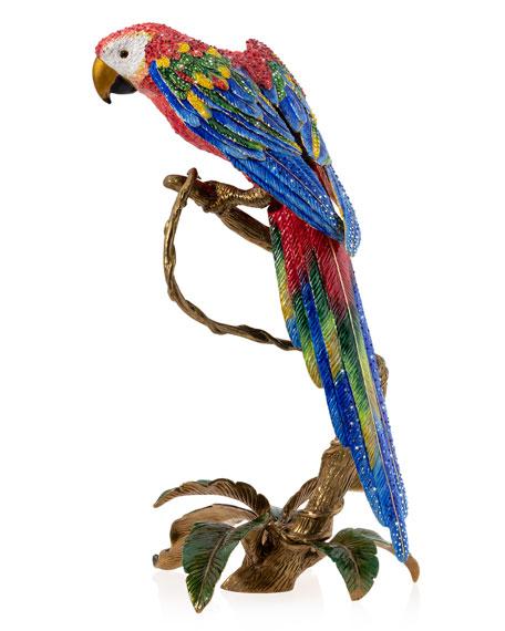 Jay Strongwater Macaw Figurine