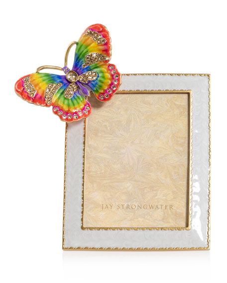 """Jay Strongwater Rainbow Butterfly Frame, 3"""" x 4"""""""