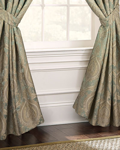Norwich Lined Curtain Panels with Tie Backs  Set of 2