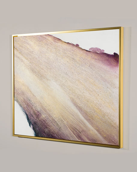 "Image 2 of 2: RFA Fine Art ""Amethyst and Gold"" Giclee Canvas Art by Lisa Cuscuna"