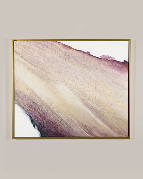 "Image 1 of 2: RFA Fine Art ""Amethyst and Gold"" Giclee Canvas Art by Lisa Cuscuna"