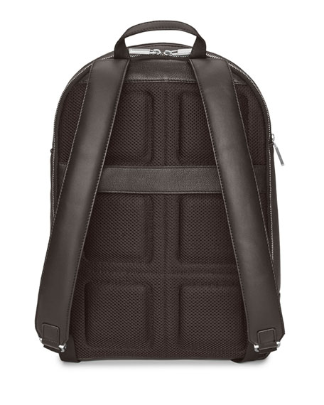 Moleskine Leather Round Top Backpack
