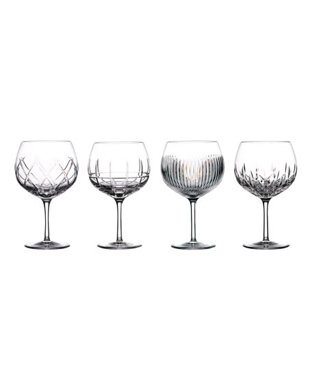 Waterford Crystal Gin Journey Assorted Balloon Glasses, Set of 4