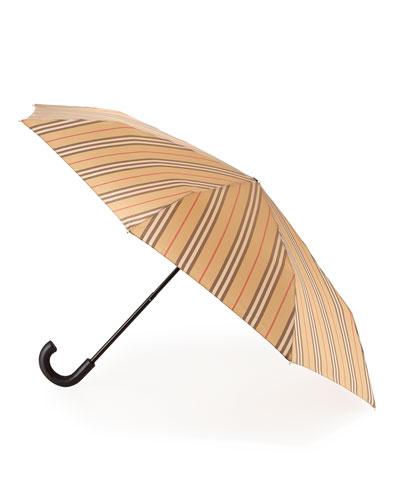 Trafalgar Vintage Check Stripe Folding Umbrella