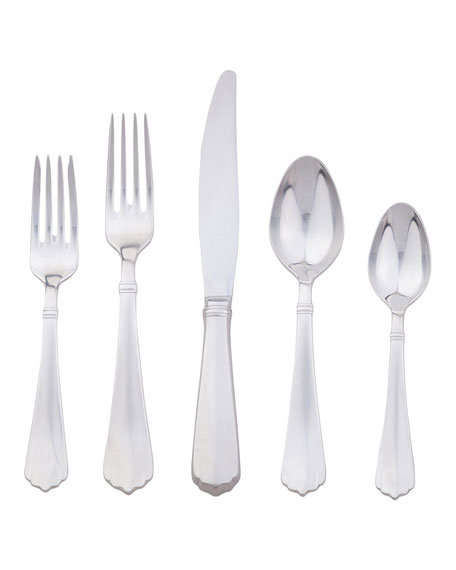Image 1 of 1: Kensington Bright Satin 5-Piece Flatware Place Setting
